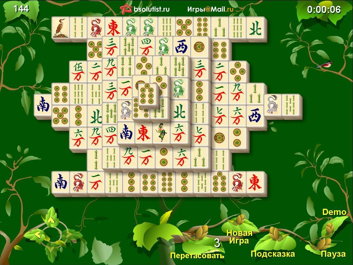 Онлайн играть бесплатно игра маджонг
